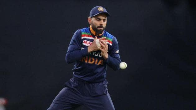 India's Virat Kohli misses a catch before Australia's Matthew Wade was run out.(REUTERS)