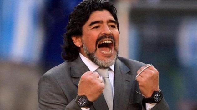 FIle photo of late Argentine football legend Diego Maradona(FILE)