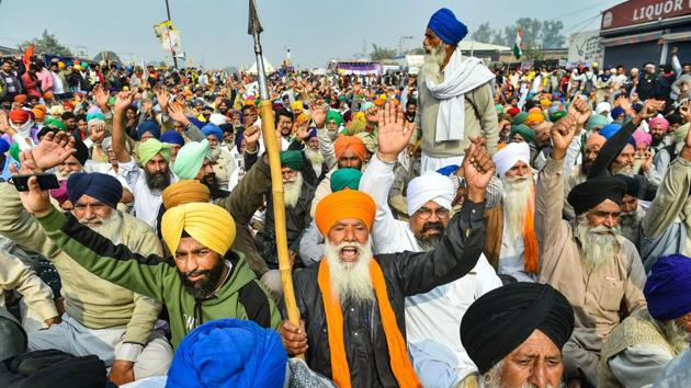 If the protest remains peaceful and does not get co-opted into other agendas, it can be a landmark in India's agrarian history(PTI)