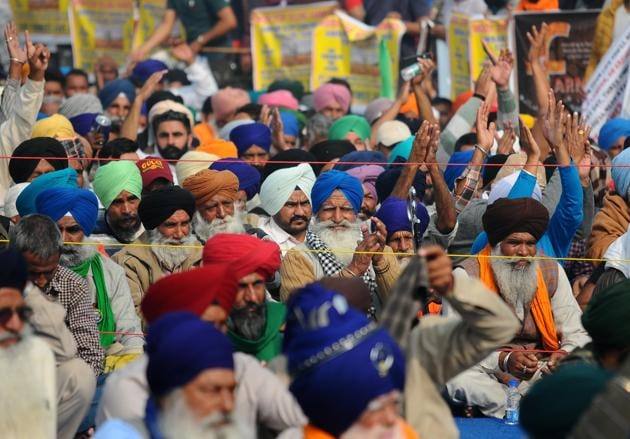 Farmer groups have called for a nationwide shutdown on Tuesday to protest against three recently enacted agriculture-related legislations.(Hindustan Times)