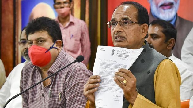 Madhya Pradesh Chief Minister Shivraj Singh Chouhan.(PTI)