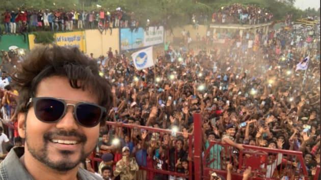 Vijay's selfie taken at Neyveli was adjudged the tweet with most retweets.