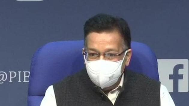 Health secretary Rajesh Bhushan onTuesday revealed the details of Co-WIN app through which one would be able to self-register for vaccine. (Photo: ANI)
