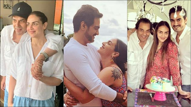 When Esha Deol introduced Bharat Takhtani to Dharmendra(Instagram/imeshadeol)