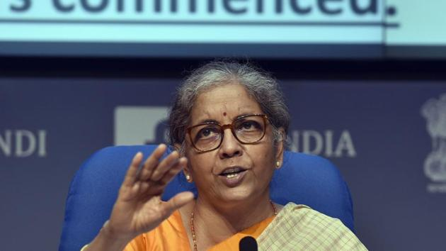 India will not worry about missing its budget deficit target as it seeks to step up spending to support the economy, Finance Minister Nirmala Sitharaman said.(Sanjeev Verma/HT photo)