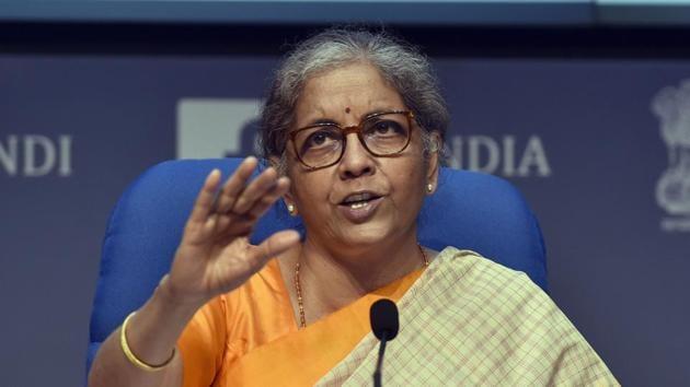 Finance minister Nirmala Sitharaman(Sanjeev Verma/HT PHOTO)