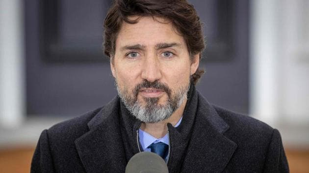 Canadian Prime Minister Justin Trudeau speaks during a Covid-19 pandemic briefing from Rideau Cottage in Ottawa.(AFP file)