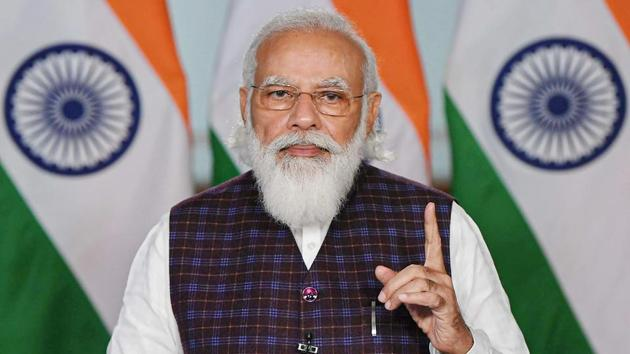 On the occasion of the 36th charter day of Saarc, Prime Minister Narendra Modi underscored India's commitment to work with other countries in south Asia for post-Covid-19 recovery.(PTI)
