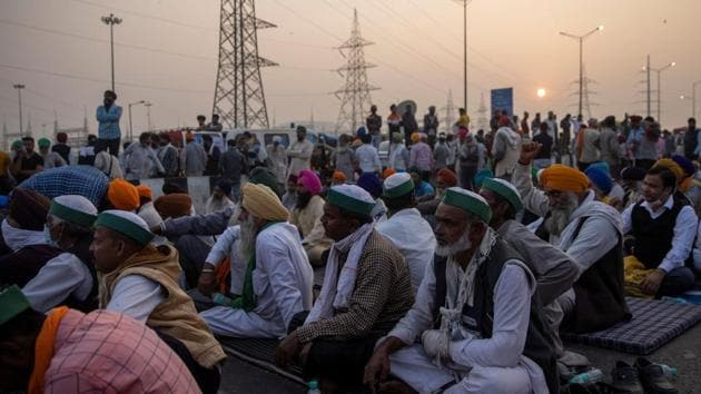 Thousands of farmers have gathered on Delhi's borders to protest against the three farm laws enacted in September and have given a call for a nationwide bandh on Tuesday.(Reuters Photo)