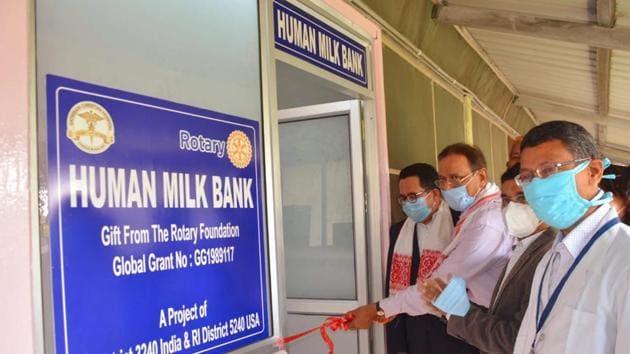 Human milk bank at Guwahati's Satribari Christian Hospital.(HT photo)