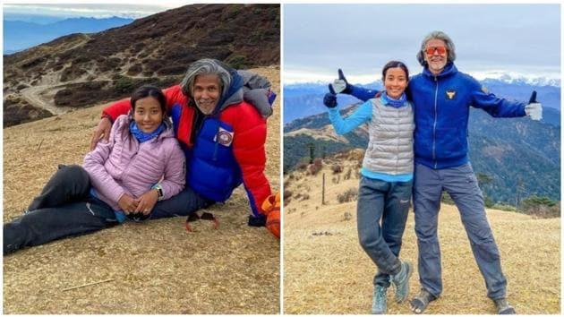 Milind Soman and Ankita Konwar share throwback trekking pics(Instagram/ankita_earthy)