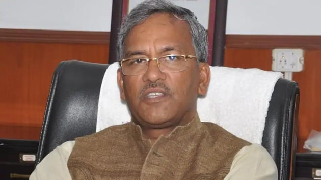 Chief Minister Trivendra Singh Rawat presided over the Uttarakhand cabinet meeting which effectively barred Chinese companies from participating in government tenders.(HT FILE PHOTO)