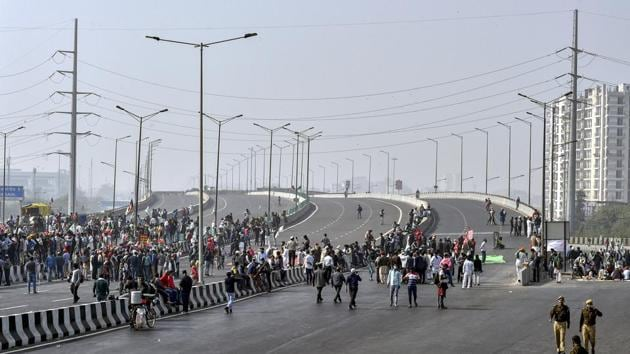Delhi Police also issued traffic advisories on social media to make the commuters aware of the affected routes and the diversions available.(PTI Photo)
