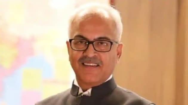 Home Secretary Ajay Kumar Bhalla asked police chiefs of all the states and union territories, Civil Defence, home guards and fire services to prepare a database of personnel or Covid-19 vaccination.(ANI Twitter)