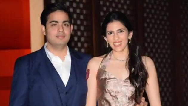 Akash and Shloka Ambani.(HT file photo)