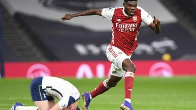 Arsenal midfielder Thomas Partey will miss the next few matches after suffering an injury(Twitter)