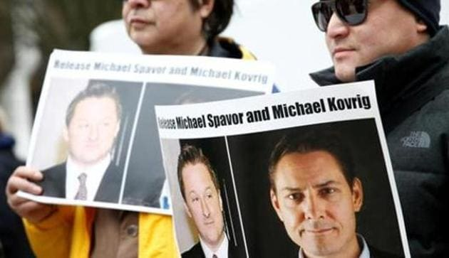 Former Canadian diplomat Michael Kovrig and businessman Michael Spavor have been confined by China since December 10, 2018.(REUTERS)