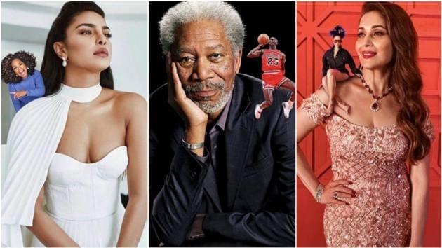Priyanka Chopra Jonas, Morgan Freeman and Madhuri Dixit Nene posted photos with their elves.