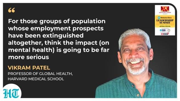 Harvard medical school professor, Vikram Patel.(HT Photo)