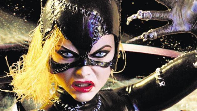 Michelle Pfeiffer played Catwoman as a fierce fighter in Tim Burton's Batman Returns, 1992.