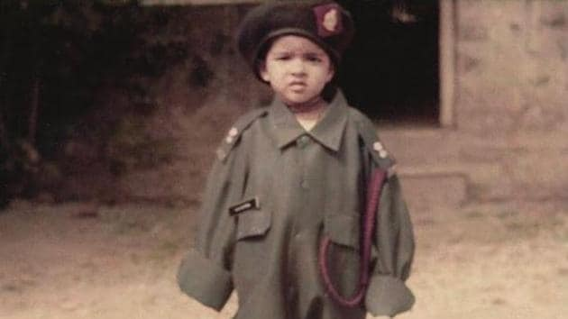 'Little Priyanka Chopra' poses in her father's army uniform.