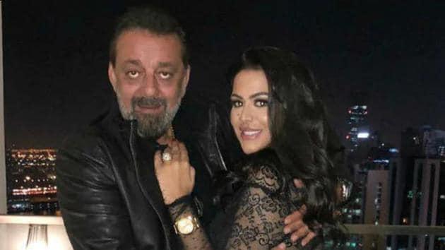 Trishala Dutt with father Sanjay Dutt.
