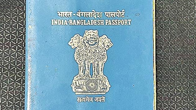 The story of this India-Bangladesh passport was posted by Debabrata Saha. It was issued to his grandfather in 1989. For their family, Saha says, it is a symbol of independence and of loss, a reminder of all those forced to flee the land of their birth.(Debabrata Saha)