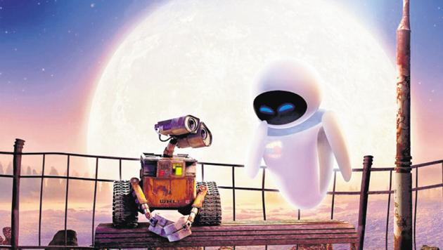 In the 2008 Pixar film Wall-E, a robot that's operated alone for centuries meets and falls in love with another bot, starting a relationship with serious implications for mankind.