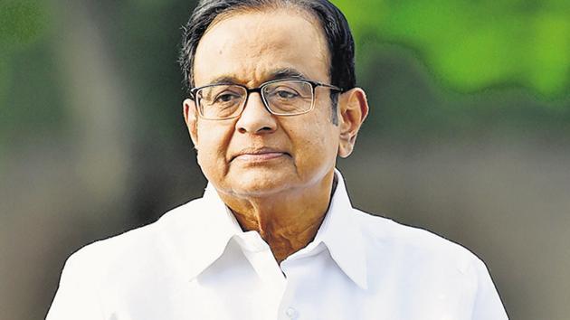 Congress leader P Chidambaram(Ajay Aggarwal/HT photo)
