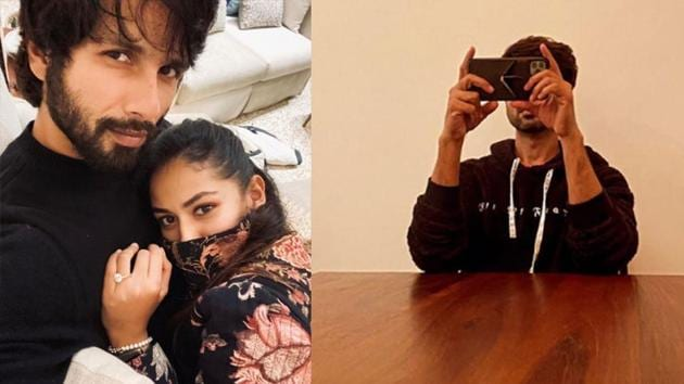 Mira Rajput has shared two pictures of Shahid Kapoor on Instagram Story.