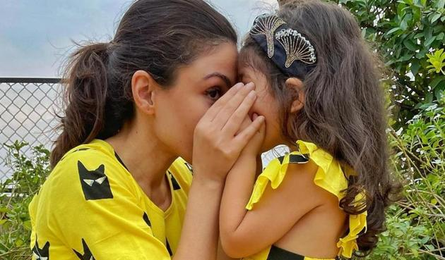 Soha Ali Khan shared a picture with daughter Inaaya.