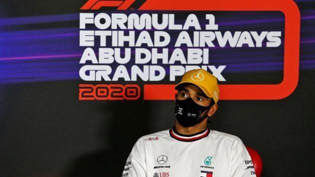 Formula One F1 - Abu Dhabi Grand Prix - Yas Marina Circuit, Abu Dhabi, United Arab Emirates - December 12, 2020 Mercedes' Lewis Hamilton in the post qualifying FIA Press Conference FIA/Handout via REUTERS(REUTERS)
