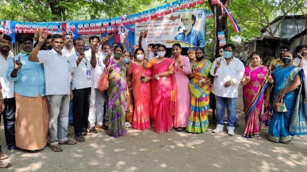 Fans of actor-turned-politician Rajinikanth celebrates his 70th birthday on Saturday.(ANI)