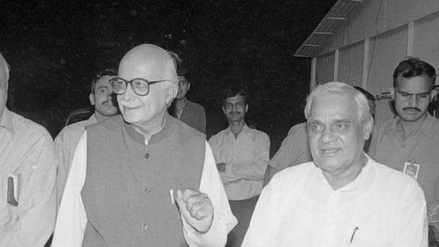 During their years in power, we thought of them as near equals; Vajpayee as prime minister, Advani his deputy(Prakash Singh/ HT Photo)