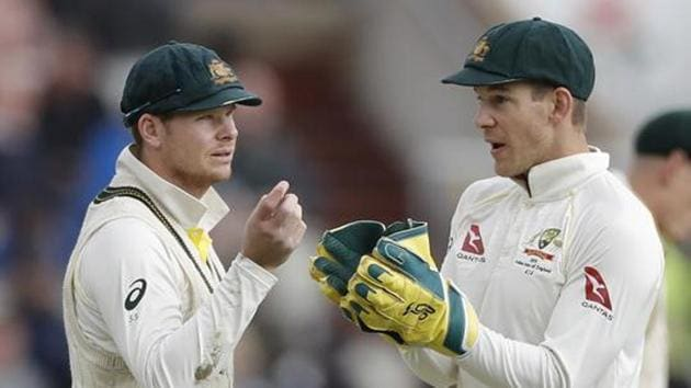 Steve Smith of Australia speaks with Tim Paine of Australia(Getty Images)