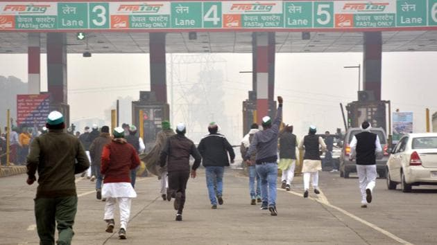 The protesters have said that major highways linking the national capital will be blocked from Sunday.(Sakib Ali/HT Photo)
