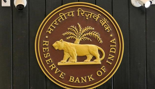 The logo of Reserve Bank of India (RBI) inside its headquarters in Mumbai, India.(Reuters/ File photo)