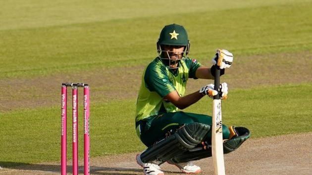 Cricket - Third T20 International - England v Pakistan - Emirates Old Trafford, Manchester, Britain - September 1, 2020 Pakistan's Babar Azam Jon Super/Pool via REUTERS(REUTERS)