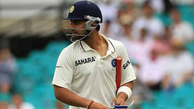 A young Virat Kohli walks back after being given out.(Getty Images)