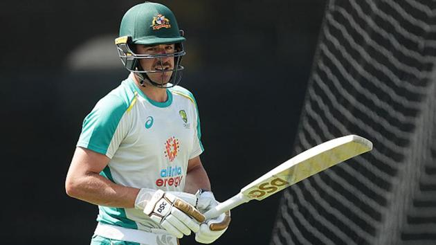 Moises Henriques in the nets(Getty Images)