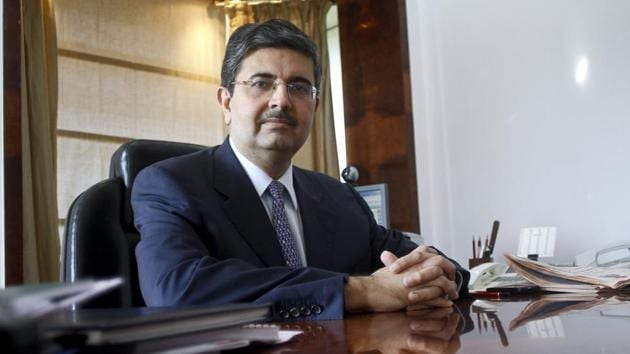 Uday Kotak is founder managing director and promoter of the bank, while Apte was appointed as the part-time Chairman of the bank at the annual general meeting held on July 19, 2018, for a period from July 20, 2018, till December 31, 2020.(Bloomberg)