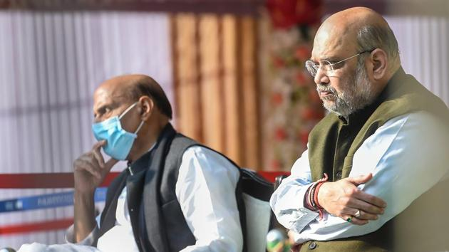 Home Minister Amit Shah met protesting farm leaders on December 8.(PTI)