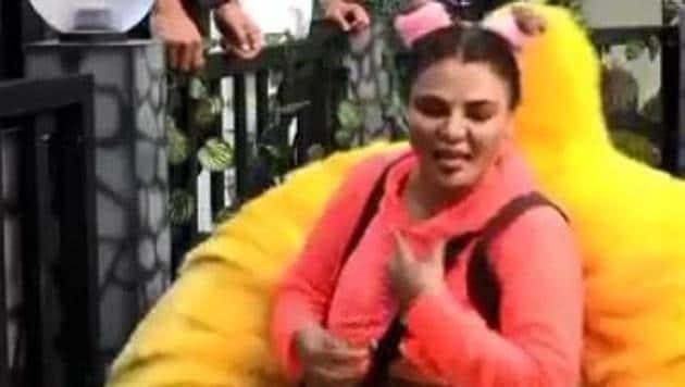 Rakhi Sawant in the Bigg Boss 14 promo video.