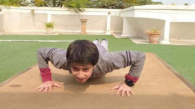 """ I thought of making the most of my time by focusing on my fitness,"" said Agastya Singh Rawat, Class 8 student of Delhi Public School, Vasant Kunj"