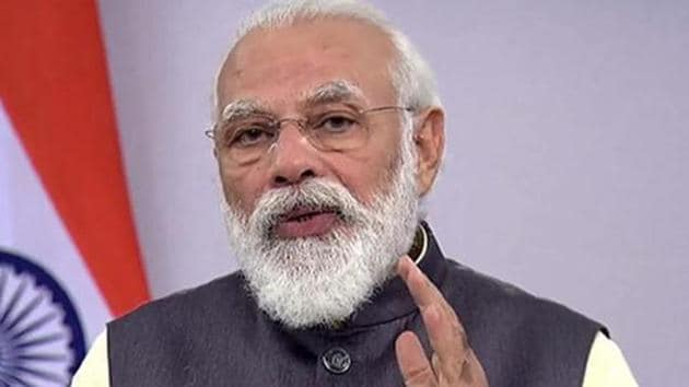 PM Modi said professor Narasimha was an outstanding scientist, passionate about leveraging the power of science and innovation for India's progress(PTI photo)