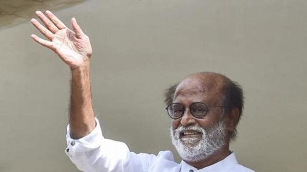 File photo: Actor-turned-politician Rajinikanth.(PTI)