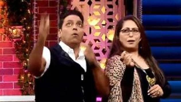 Ganesh Acharya and Geeta Kapur on The Kapil Sharma Show.