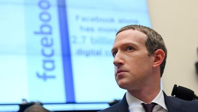 Facebook Chairman and CEO Mark Zuckerberg testifies at a House Financial Services Committee hearing in Washington, US, October 23, 2019(REUTERS)