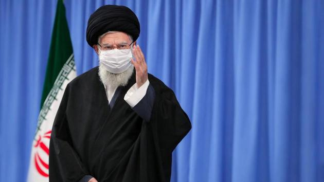 """Iran's supreme leader Ayatollah Ali Khamenei said millions of people attending the funeral of Soleimani """"was the first slap"""" to the US.(VIA REUTERS)"""