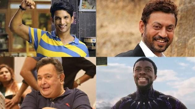 Sushant Singh Rajput, Irrfan Khan, Rishi Kapoor and Chadwick Boseman were among noted celebrities who died this year.